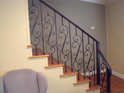 Stair Rails Wrought Iron Railing Houston Katy Cypress