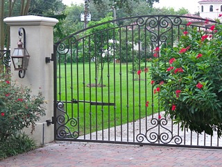 Scroll Work Custom Gate Design Houston Katy Cypress